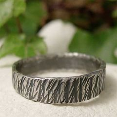 Hammered,Sterling,Silver,Tree,Bark,Ring,Band,,Alternate,Wedding,Band,Jewellery, Rings, Bands, sterling silver ring, simple silver ring, tree bark ring, silver textured ring, textured ring band, hand hammered silver, silver wood grain, wood grain ring, rustic jewelry, oxidized jewelry, hand forged metal, unisex jewelry, org