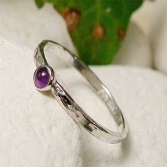 Tiny,Amethyst,Sterling,Silver,Stacking,Ring,,February,Birthstone,Ring,Jewelry,sterling_silver_ring, silver_jewelry,  amethyst silver ring,  amethyst stack ring,  silver stack ring,  stacking ring, february birthstone,  dainty silver ring,  6th anniversary gift,  wedding anniversary,  amethyst jewelry,  gemston