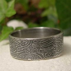 Wide,Band,Sterling,Silver,River,Rock,Textured,Ring,for,Men,Jewellery, Rings, Bands, Wedding & Engagement, sterling silver ring, wide band ring, mens ring, alternative wedding, wedding ring, mens wedding band, river rock ring, textured silver ring, organic jewelry, artisan jewelry, silver wedding ring, rustic silv