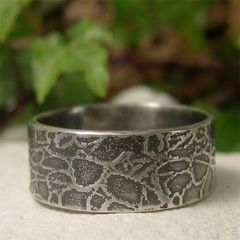 Mens,Sterling,Silver,Wide,Band,Tangleroot,Textured,Ring,Jewellery, Rings, Bands, Wedding & Engagement, sterling silver ring, mens silver ring, wide band ring, textured silver ring, mans wedding ring, alternative wedding, oxidized silver band, flat band, rustic ring, commitment ring, couples ring, patterned sil