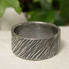 Wide,Band,Sterling,Silver,Tree,Bark,Texture,Mans,Ring,Jewellery, Rings, Bands, Wedding & Engagement, sterling silver ring, tree bark ring, wood texture ring, wide band ring, mans chunky ring, thick silver ring, rustic jewelry, hand forged jewelry, hammered jewelry, hand hammered ring, mens wedding ring, mans
