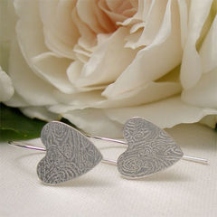 Small,Sterling,Silver,Heart,Dangle,Earrings,,Romantic,Jewellery,Jewelry, Earrings, Dangle, sterling silver, small heart earrings, dangle earrings, heart jewelry, sterling silver hearts, patterned silver, drop earring, romantic jewelry, bridesmaid gift, hand forged metal, wedding jewelry, simple silver