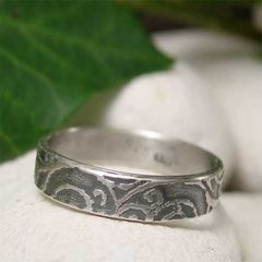 Sterling,Silver,Sea,Spiral,Textured,Slim,Band,Ring,handcrafted Jewellery, Rings, Bands, sterling silver ring, silver, ring band, pattern silver ring, casual jewelry, boho jewelry, hand made jewelry, nature ring, sea ring, spiral ring, hand forged metal, mens ring, womens ring, organic jewelry