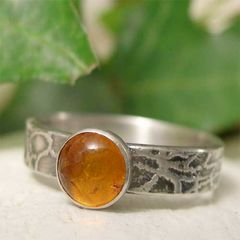 Mens,or,Womens,Amber,Sterling,Silver,Ring,,Organic,Textured,Ring,Band,Jewellery, Rings, Solitaire Rings,  sterling silver ring, amber ring, artisan silver, semi precious mens ring, womens ring, bohemian jewelry, gemstone jewelry, organic ring band, promise ring, cocktail ring, boho jewelry, mineral ring