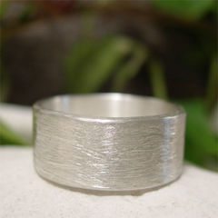 Brushed,Sterling,Silver,Wide,Band,Ring,for,Men,or,Women,Jewellery, Rings, Wedding & Engagement, Wedding Bands, sterling silver ring, silver ring band, hand forged silver, brushed silver ring, simple wedding ring, contemporary jewelry, mens wedding band, womens wedding band, unisex ring, satin silver ring, comm