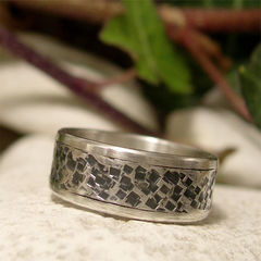 Square,Hammered,Inset,Sterling,Silver,Wide,Band,Ring,Jewellery, Rings, Bands, sterling silver ring, silver ring band, textured silver ring, mens silver ring, womens silver ring, hammered ring, inset texture, boho style, ring band, alternate wedding, wedding jewelry, wedding band, commitmant ring, promise ba