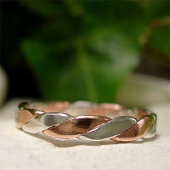 Hand,Forged,Copper,and,Sterling,Silver,Twisted,Rope,Ring,Jewellery, Rings, Bands, sterling silver ring, copper ring, silver twist ring, copper rope ring, silver rope ring, twisted wedding band, hand forged ring, mixed metal ring, stackable ring, braided ring band, silver ring band, copper ring band, simple ring