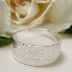 Wide,Band,Sterling,Silver,Wedding,Ring,for,Bride,or,Groom,Jewellery, Rings, Wedding & Engagement, Wedding Bands, sterling silver ring, wide band ring, silver wedding ring, groom jewelry, groom ring, couples ring, commitment ring, friendship ring, mens wedding band, textured band ring, wedding jewelry, river rock