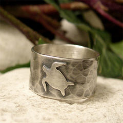 Sea,Life,Ring,,Sterling,Silver,Turtle,Ring,Band,Jewellery, Rings, Bands, sterling silver ring, silver ring band, sea life ring, hammered silver ring, sawn silver sea turtle, rustic ocean ring, organic jewelry, nature jewelry, organic ring, wildlife lover gift, beach lover gift, uk hand made