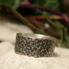 Rustic,Square,Hammered,Wide,Band,Ring,for,Men,Jewellery, Rings, Wedding & Engagement, Wedding Bands, sterling silver ring, hand hammered, hammered silver ring, oxidized silver ring, silver ring band, hand forged jewelry, blackened silver, mens ring, womens ring, rustic silver ring unisex, his n hers