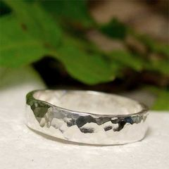 Polished,Hammered,Sterling,Silver,Narrow,Band,Ring,Jewellery, Rings, Wedding & Engagement, Wedding Bands, sterling silver ring, hand hammered, hammered silver ring, silver ring band, hand forged jewelry, mens ring, womens ring, unisex, his n hers forged metalwork, shiny silver ring, polished silver weddin