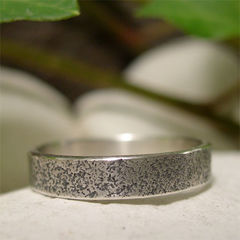 Natural,Sandstone,Texture,Oxidised,Ring,Band,Jewellery, Rings, Wedding & Engagement, Wedding Bands, sterling silver ring silver ring band, hand forged silver, natural texture, rustic ring, sandstone texture, organic ring, simple ring band, oxidized ring, boho ring, unique silver ring, distinctive ri