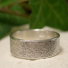 Wide,Band,Frosted,Sterling,Silver,Ring,Jewellery, Rings, Wedding & Engagement, Wedding Bands, sterling silver ring, silver ring band, hand forged silver, frosted silver ring, minimalist jewelry, contemporary ring, mens silver ring, womens silver ring, silver wedding ring, wedding jewelry, simp