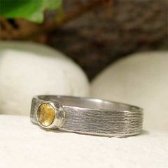 November,Birthstone,Yellow,Citrine,Sterling,Silver,Ring,hand made Jewellery, Rings, Solitaire Rings, hand crafted sterling silver, ring silver citrine ring, yellow gemstone ring, november birthstone, november birthday, cabochon ring, rustic oxidized brushed silver, silver ring band, honey gemstone ring, gemsto