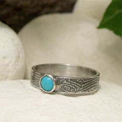 December,Birthday,Blue,Turquoise,Sterling,Silver,Ring,hand made Jewellery, Rings, Solitaire Rings, natural turquoise, hand crafted turquoise silver sterling silver ring, turquoise blue, turquoise gemstone, blue gemstone ring, december birthstone, cabochon ring, december birthday, rustic silver ring, textured