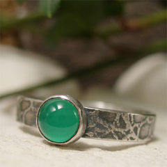 Green,Onyx,Stone,,Bohemian,Sterling,Silver,Ring,hand crafted Jewellery, Rings, Solitaire Rings, hand made sterling silver ring, artisan green onyx ring, semi precious stone, rustic silver ring, green stone ring, organic ring, textured silver, silver ring band, unique artisan ring, bohemian jewelry, men