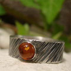 Golden,Amber,Tree,Bark,Wide,Sterling,Silver,Ring,Band,hand crafted Jewellery, Rings, Solitaire Rings, hand made sterling silver ring, artisan silver gemstone ring oxidized mens ring rustic ring, natural rugged 8mm wide band ring, gemstone jewelry, black silver ring, amber silver ring, engagement ring, weddin