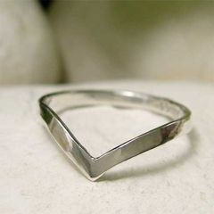 Polished,Sterling,Silver,Chevron,Stackable,Ring,hand crafted Jewellery, Rings, Stackable Rings, hand made polished silver ring, silver chevron ring, simple silver v ring, wishbone ring, modern thin silver ring, pointed ring, geometric ring, minimalist jewelry, stacking stack ring, sterling silver 2mm r