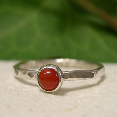 July,Birthstone,Orange,Red,Carnelian,Gemstone,Sterling,Silver,Stacking,Ring,hand crafted Jewellery, Rings, Stackable Rings, hand made sterling silver ring, gemstone stack ring, tiny stone ring, silver stacking ring, carnelian stacker ring, hammered band ring, orange stone ring, red stone ring, july birthday jewelry, birthday ring