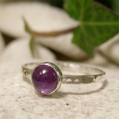February,Birthstone,Purple,Amethyst,Gemstone,Sterling,Silver,Stack,Ring,hand crafted Jewellery, Rings, Solitaire Rings, hand made sterling silver ring, purple amethyst ring, solitaire ring, stacking ring, february birthstone ring gift, wedding anniversary, 6th anniversary natural gemstone jewelry, minimalist ring, single ston