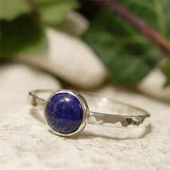September,Birthday,Blue,Lapis,Lazuli,Solitaire,Gemstone,Sterling,Silver,Stacking,Ring,hand crafted Jewellery, Rings, Solitaire Rings, lapis lazuli, hand made sterling silver ring stacking ring, bezel set, solitaire ring, dark blue stone ring, september birthday, semi precious gemstone jewelry, birthstone jewelry, stacker ring