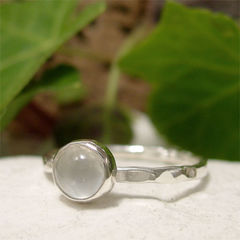 White,Moonstone,June,Birthstone,Solitaire,Sterling,Silver,Stacking,Ring,hand crafted Jewellery, Rings, Solitaire Rings, hand made sterling silver ring silver stack ring, stacking ring, natural gemstone ring solitaire moonstone ring, hammered silver, june birthstone, june birthday jewelry gift, white gemstone