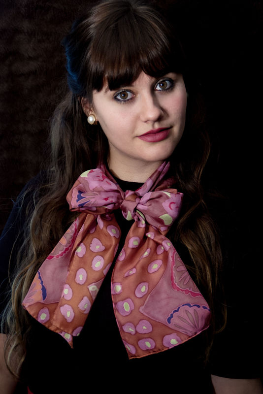 Cora Spice - luxury, twill, patterned designer art scarf - product images  of