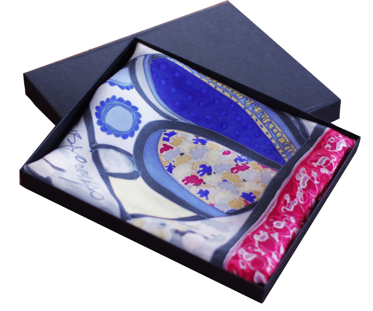 Mayme - Hand painted silk scarf - product images  of