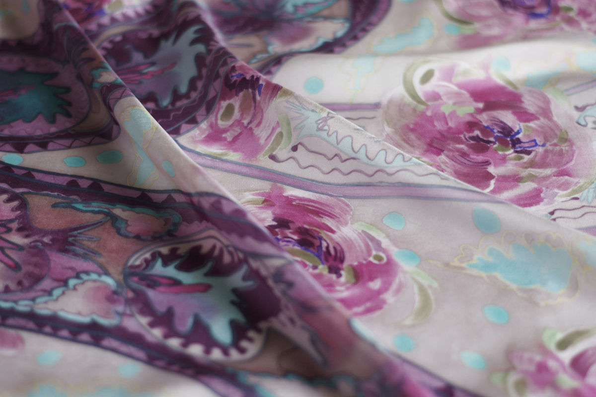 Ettaline V Mouse - silk twill art scarf - product images  of