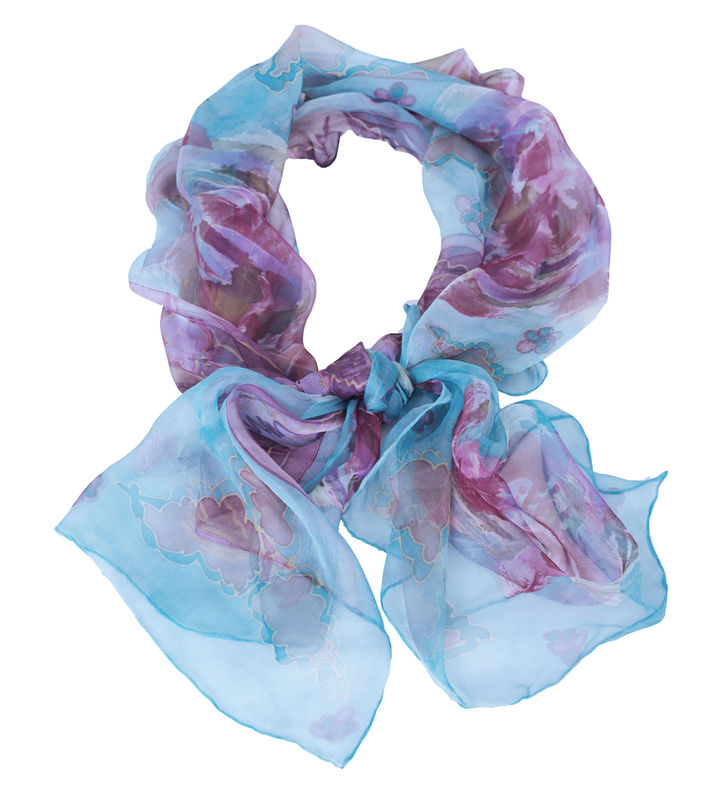 Ettaline IV Chiffon - hand painted art scarf - product images  of
