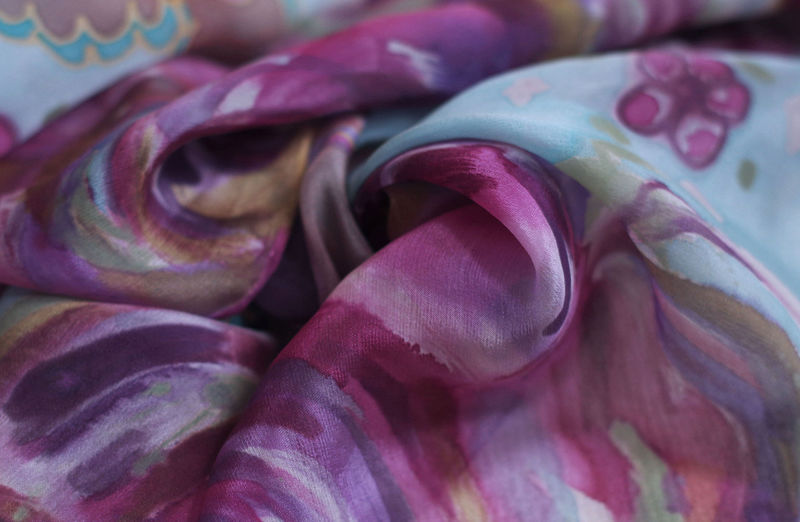 Ettaline III - hand painted long crepe de chine  - product images  of