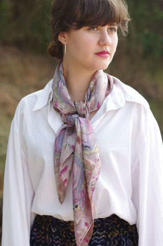 Thomasina,Pink,hand painted silk, silk scarf, art scarf, handmade scarf, silk twill, pink scarf
