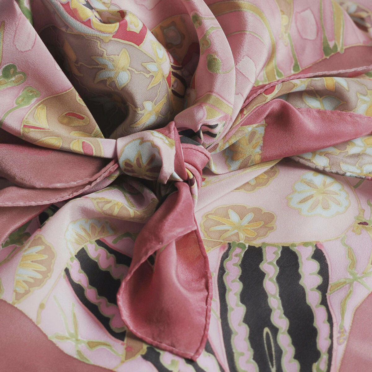 Berenice Clover - hand painted silk scarf - product images  of