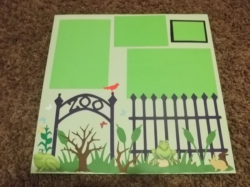 Zoo premade scrapbook page paper piecing - product images  of