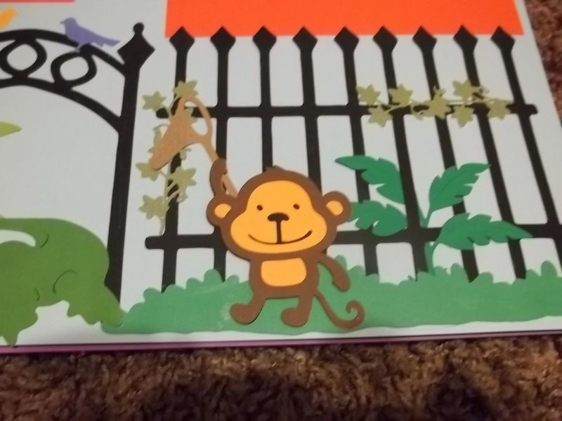 Zoo monkey scrapbook page - product images  of