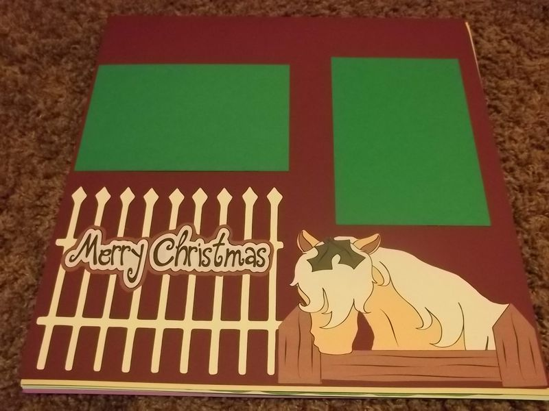 Scrapbook page Christmas pony or horse - product images
