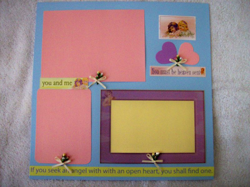 Angel premade scrapbook page - product images