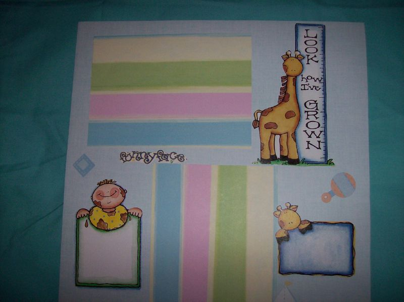 Look me grow & playtime scrapbook page - product images  of