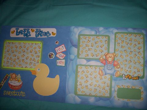 Duck,bathtime,scrapbook,page,scrapook, baby, child, bathtime