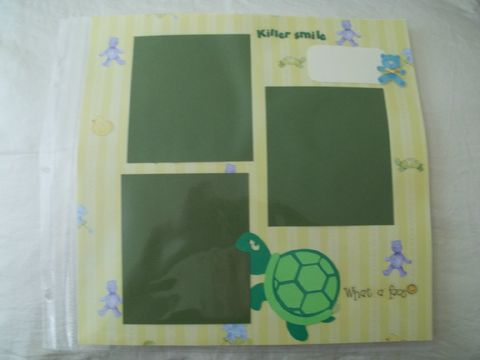 What,a,smile,turtle,scrapbook,page, baby, child, turtle, smile, bear