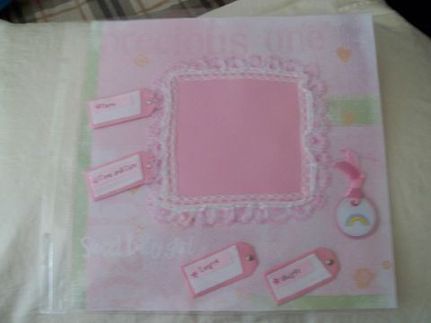 Newborn,baby,girl,scrapbook,page, girl, welcome, newborn, scrapbook