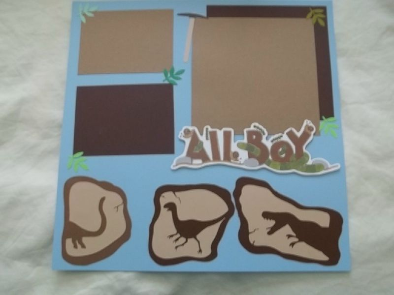 All boy dinosaurs scrapbook page - product images  of
