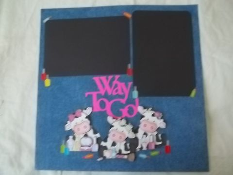 Cows,in,beauty,shop,scrapbook,page,cow, make up, scrapbook, child, beauty
