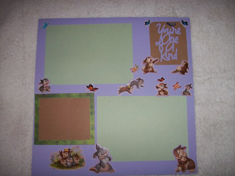 You are one of kind scrapbook page - product images