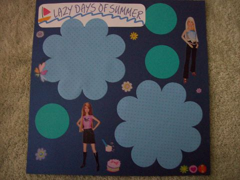 Lazy,days,of,summer,scrapbook,page, barbie, scrapbook