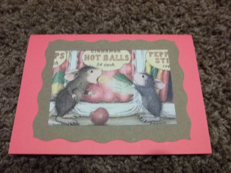 Fireball house mouse stamped series greeting card - product images