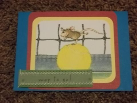 Way,to,go,mouse,greeting,card, blank card, greeting card, encourage, thank you