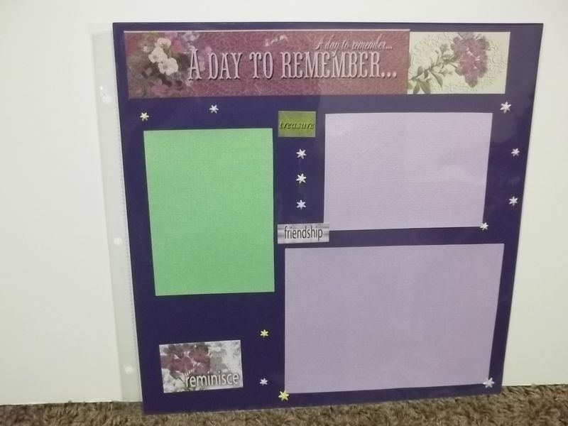 Day to remember premade scrapbook page - product images  of