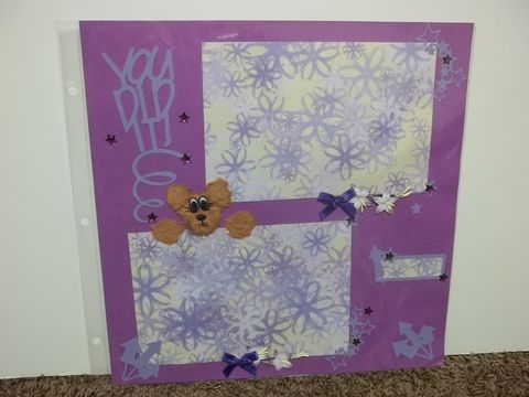Tear,bear,you,did,it,premade,scrapbook,page,tear bear, scrapbook