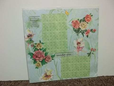 Roses,and,fairies,premade,scrapbook,page,fairy, garden, scrapbook
